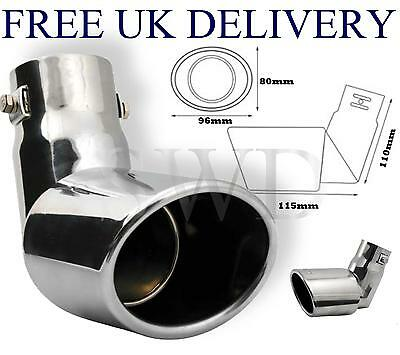 Drop Down Car Diesel Exhaust Stainless Steel Tail Pipe Trim / Tip Oval curved