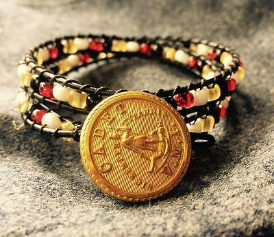 VMI Virginia Military institute wrap bracelet with Cadet button