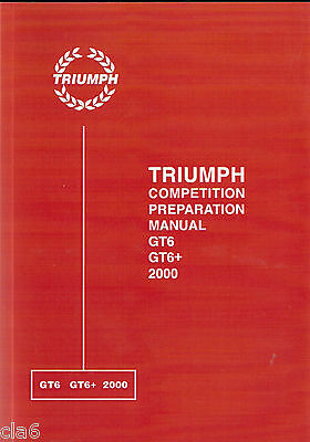 Triumph GT6 & 2000 Competition Preparation Manual *NEW