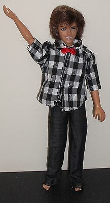 High School Musical Dressed Troy Doll,Rooted Hair,Jeans & Check Shirt,Bow Tie