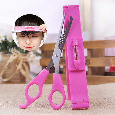 1Set Professional Bangs Hair Cutting Clip Comb Hairstyle Typing Trim Tool DIY
