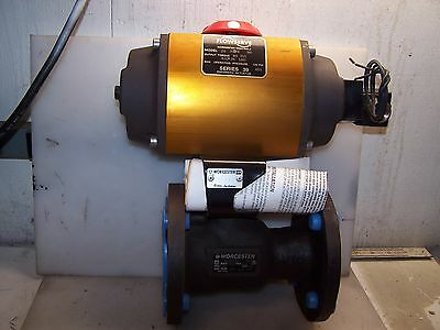 "New Flowserve Model 20 Series 39 Actuator With 2"" Ball Valve Cwp 285 Wcb"