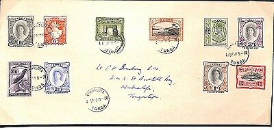 MS1842 1950 TONGA Local Cover Complete 1942 Set + 1½d  RESERVED