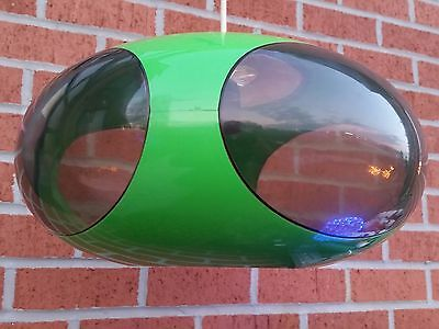 616. Ufo lamp by Luigi Colani about 1970- green with smoked windows - space age
