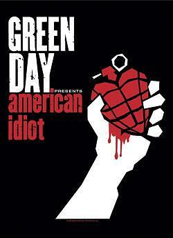 """GREEN DAY  Rock flag/ Tapestry/ Fabric Poster   """"American Idiot""""    NEW"""