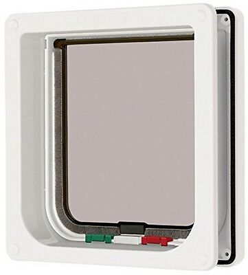 Cat Mate 4-way Locking Cat Flap With Door Liner 50mm - White