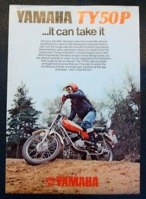 YAMAHA TY50P Motorcycle Sales/Specification Sheet 1976