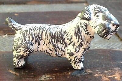 Vintage Metal Sealyham Terrier Figurine Dog Marked England