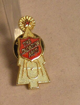 Salvation Army - CHRISTMA KETTLE RED SHIELD PIN