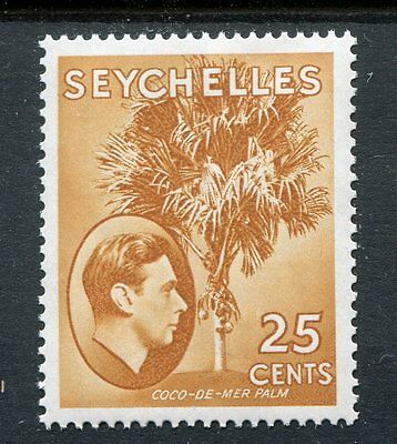 Seychelles KGVI 1938-49 25c brown-ochre SG141 unmounted mint