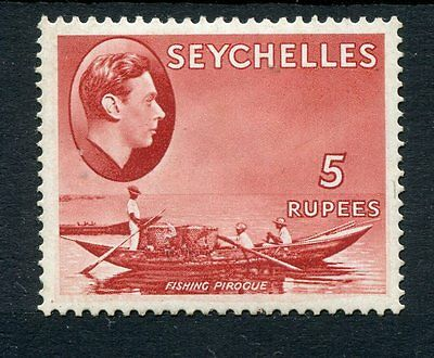 Seychelles KGVI 1938-49 5r red SG149 mounted mint
