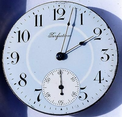 Perfection 16s antique pocket watch Nice Blue Dial ticking but wont wind F4120