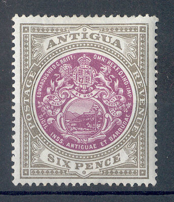 Antigua KEVII 1903-07 6d purple & drab SG36 mounted mint