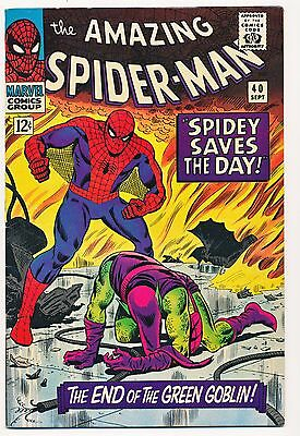 AMAZING SPIDER-MAN 40, 1966 GREEN GOBLIN ORIGIN! HI-GRADE! ONE OWNER! Marvel
