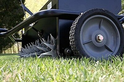 Brinly Tow Behind Combination Aerator Spreader 40 '' Yard Garden Seed Tools Best