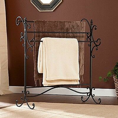 Quilt Rack Vintage Wrought Iron Blanket Stand Towel Hanger Stand Towel Home New