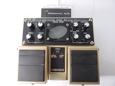 Boss Rt-20 Rotary Ensemble Leslie Rotating Speaker Simulator Effects Pedal