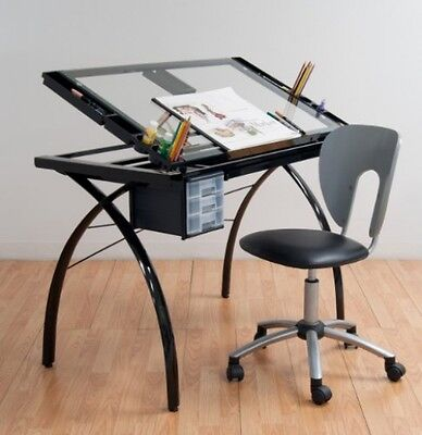 Drafting Table Adjustable Tattoo Stencil Glass Desk Tracing Drawing Work Station