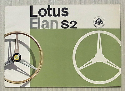 LOTUS ELAN S2 Sports Car Sales Brochure c1964