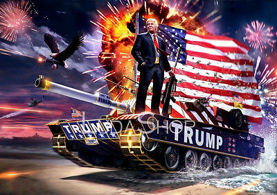Donald Trump New American Republican President Winner Tank Deco Poster 24x36""