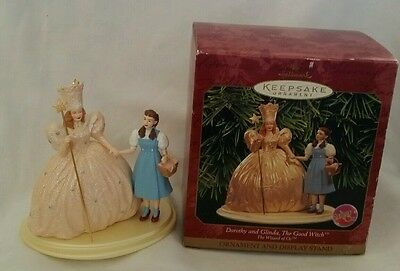 1998 Hallmark Ornament The Wizard of Oz Dorothy and Glinda, The Good Witch, New,