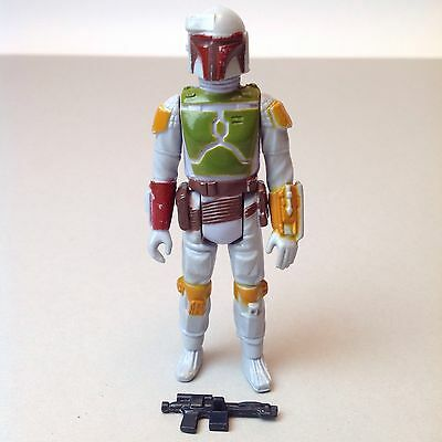 Vintage Star Wars Boba Fett Tri Logo Painted Knee Complete Original