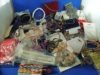 Vintage Large Lot of 80s and 90s Bracelets Jewelry Bangles Beads Rhinestones