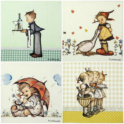 4 Single Table Party Paper Napkins for Decoupage Decopatch Craft Children Mix