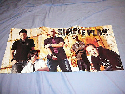 SIMPLE PLAN 11 x 23 POSTER CLIPPING