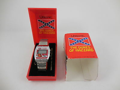 1981 Dukes of Hazzard LCD Stainless Steel Watch New in Original Box Unisonic NOS