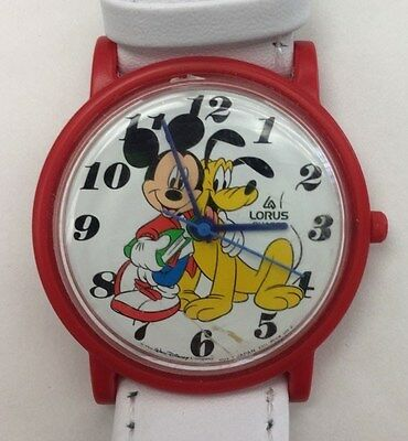 Disney Lorus Mickey Mouse And Pluto 'Back to School' Watch