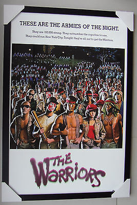 "THE WARRIORS framed POSTER ""Ready to Hang"" BLACK TIMBER FRAME ""ARMIES OF NIGHT"""