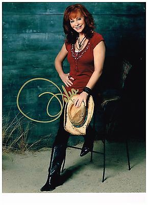 Reba McEntire 8 1/2 x 11 Sexy Authentic Hand Signed Autographed Photo W/ COA