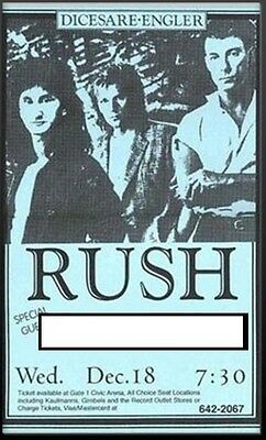 Rush - Your Name Opening Act Large Laminated Gloss Poster