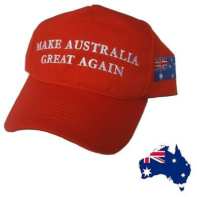 Make AUSTRALIA Great Again Cap Hat Straya Australian Day Flag Aussie Adjustable