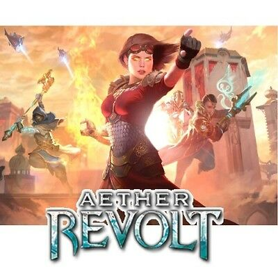 Magic the Gathering Aether Revolt AER Full Complete Set with Mythics Token MTG