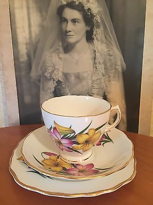 Antique Vintage Trio Cup Saucer Plate Afternoon High Tea Royal Vale  Bone China
