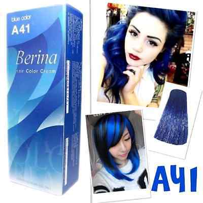 Berina A41 Professional Permanent Hair Dye Cream Blue Color Punk Rock Style