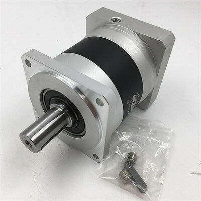 Spiral Bevel Gearbox 90mm Ratio 1:1 50Nm 10arcmin with 3 Keyed Shafts Dia 18mm