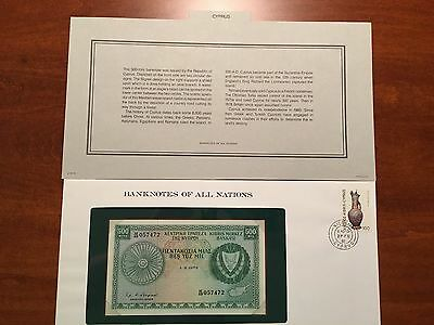 Banknotes of All Nations - Cyprus 500-Mils 1979 *CRISP UNCIRCULATED*
