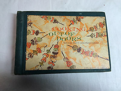 Vintage 1960 Girl Scout Cooking-  Out Of Doors - Cook Book -Camping Camp recipes