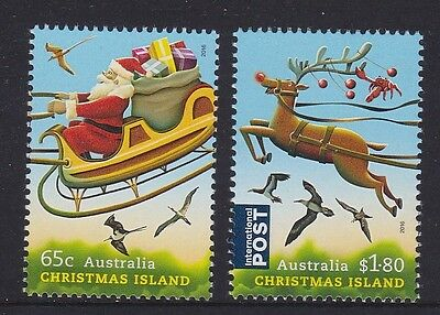 Christmas Island 2016 : Christmas, Set of 2 Decimal Stamps, MNH