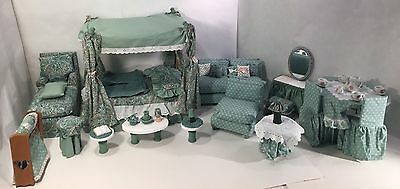 Large Set of House Miniature Furniture Dining Living Room Bedroom (approx 1:6)