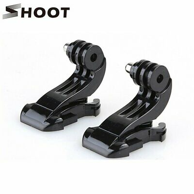 SHOOT 2PCS Helmet Front Mount Base Bracket J-Hook Buckle For Gopro Hero 4 3