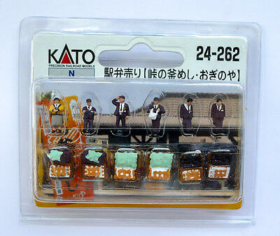 Kato N Scale 24-263 Model People Lunch Vendors
