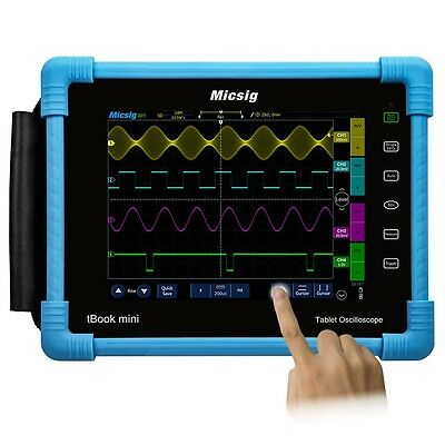 Micsig Digital Tablet Oscilloscope TO1104 Portable tbook USB 100Mhz 4channels