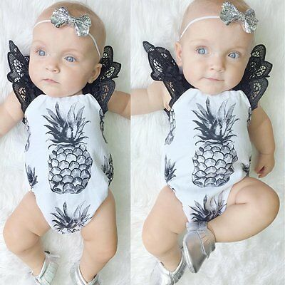 Newborn Infant Baby Jumpsuit Bodysuit Romper Toddler Girl Clothes Outfit 0-24M