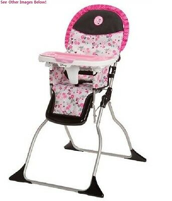 High Chair For Baby Booster Seat Space Saver Feeding Table Portable Folding Pink
