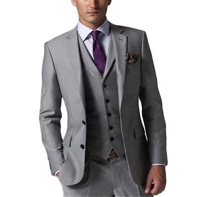 Custom made Men's New Casual Slim Fit Skinny dress Vest Business Suits 4 pieces