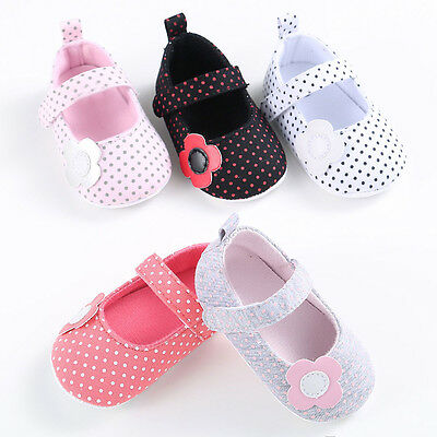 Toddler Newborn Baby Girl Soft Sole Crib Shoes Anti-slip Prewalker Pram Sneakers